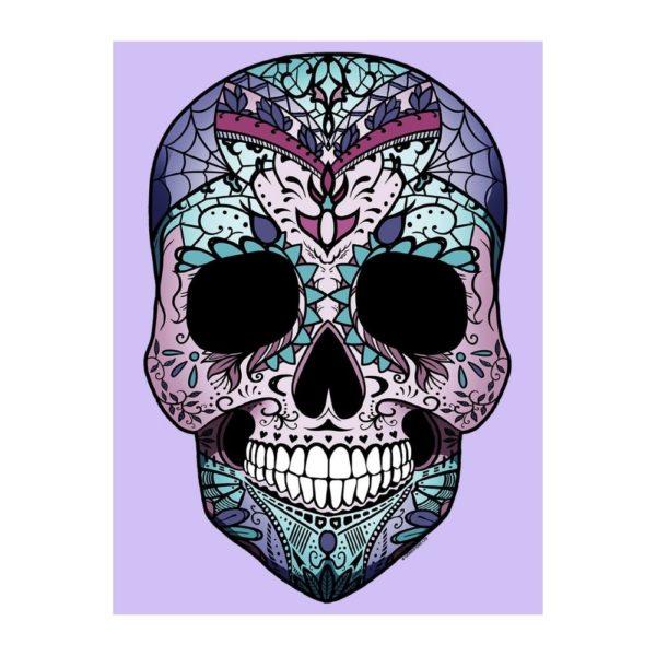 Amaranthine Skull Tote Bag