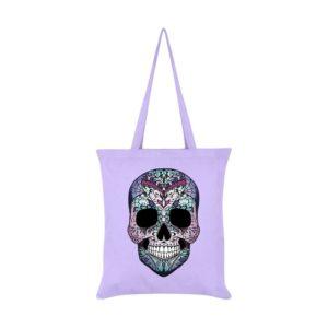 Amaranthine Skull Tote Bag Front