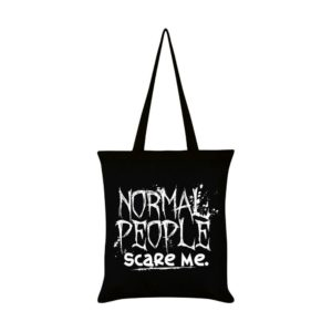 Normal People Scare Me Tote Bag Front