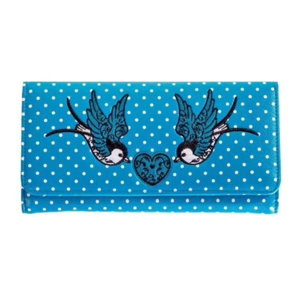 Now or Never Wallet Blue Front