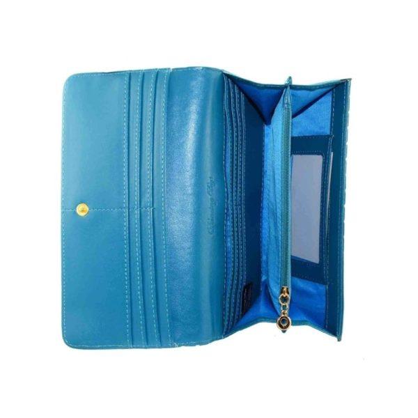 Now or Never Wallet Blue Inside