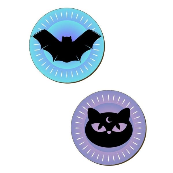 Bats Cats Witches Hats Coasters 2