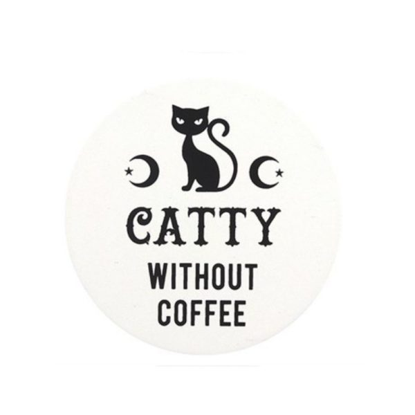 Catty Without Coffee Coaster