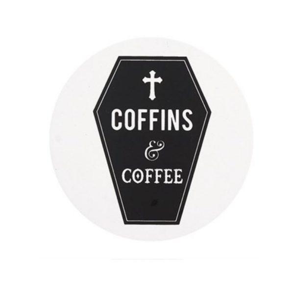 Coffins Coffee Coaster