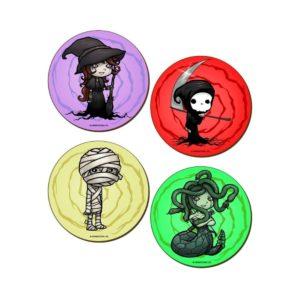 Creepy Charcters Coasters