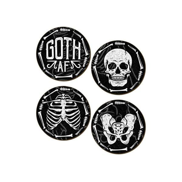 Goth AF Coaster Set
