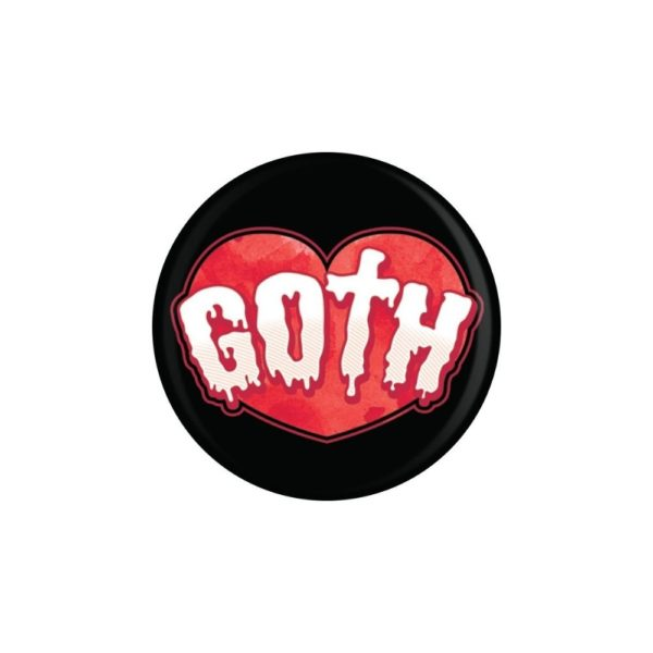 Goth Heart Badge