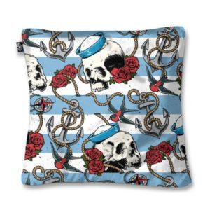 Nautical Skull Cushion Cover