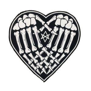 Skeleton Hands Heart Beach Towel 1