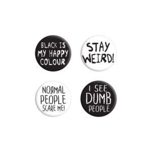 Stay Weird Badge Set