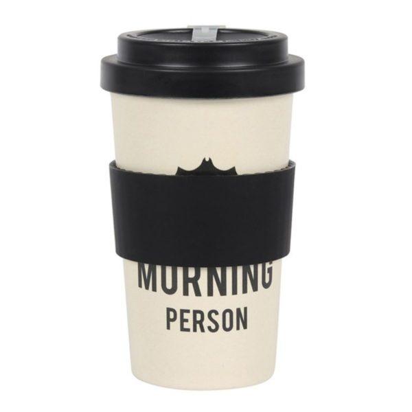Not a Morning Person Bamboo Travel Mug 1