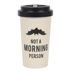 Not a Morning Person Bamboo Travel Mug