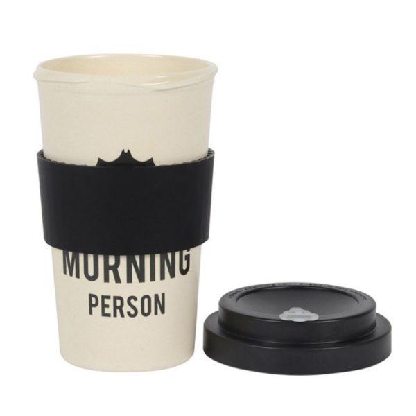 Not a Morning Person Bamboo Travel Mug 4