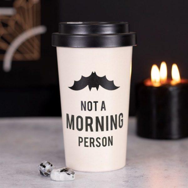 Not a Morning Person Bamboo Travel Mug 5