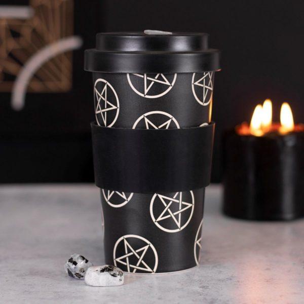 Pentagram Bamboo Travel Mug 1
