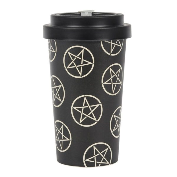 Pentagram Bamboo Travel Mug